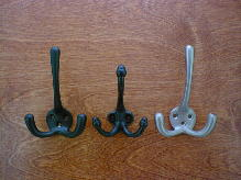 victorian cast brass and iron coat hook suite